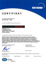 TÜV NORD CERTIFIKÁCIA Certificate