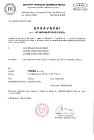 INŠTITÚT TECHNICKEJ INŠPEKCIE Certificate