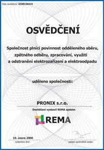 REMA Certificate