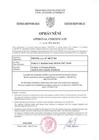 ÚRAD CIVILNÉHO LETECTVA Certificate